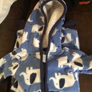 Carters fleece zipper onesie